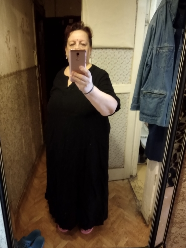 S 5Xl Celmia Women Vintage Linen Dress Summer V Neck Short Sleeve Solid Pockets Casual Loose Midi Dress Oversized Vestidos photo review