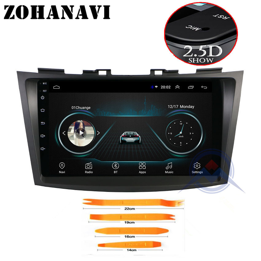 ZOHANAVI 9inch Android 8.1 Car DVD Multimedia Player GPS for SUZUKI Swift 2011-2015 audio radio stereo navigation build in wifi
