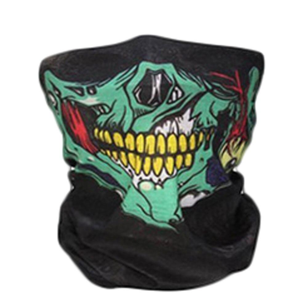 New Skull Classic Skeleton Camouflage Novelty Skull Mask Scarf Headscarf Sport Headband Pick Skull Print Scarves 8 Colors