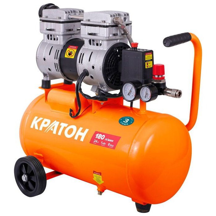 Compressor KRATON with direct transmission oil-free AC-180-24-OFS zndiy bry afr2000 air pressure regulator oil water separator trap filter airbrush compressor