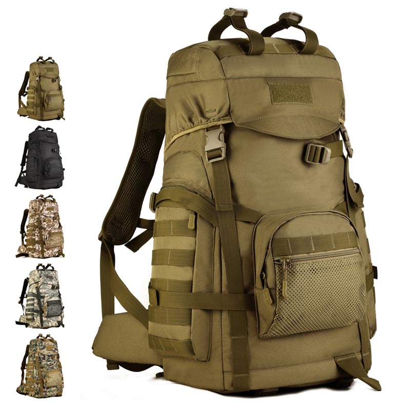 Large Fashion Cool Adult Black Army Backpacks Lightweight Travel Camping Hiking Bag Rucksack Military Style Backpack For SaleLarge Fashion Cool Adult Black Army Backpacks Lightweight Travel Camping Hiking Bag Rucksack Military Style Backpack For Sale