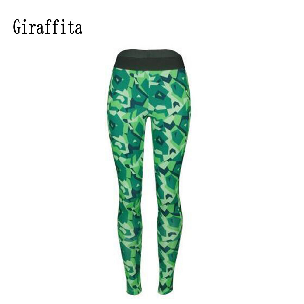 ArmyGreen Fitness Leggings Women Workout Gym Yoga Pants Stripe Camouflage Sports Leggings Fitness Stretch Trouser