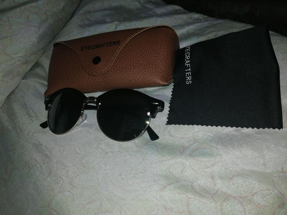 297a2ad9e8 16 reviews for New Polarized Round Sunglasses Mens Womens Brand Designer  Club Round Glasses Classic Sun glasses Driving Semi Rimless Eyewear