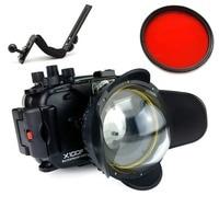 Seafrogs 40m/130ft Underwater Camera Waterproof Housing Case For Fujifilm X100F +MEIKON 67mm Fisheye Lens+MEIKON Red Filter 67mm