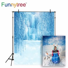 цены Funnytree fairy tale background for photo studio iceberg wonderland princess photography backdrop photocall photographic