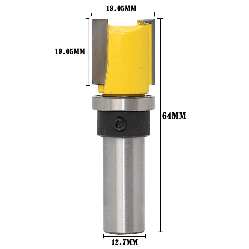 1pc Patrón Trim Template Trim Router Bit - 3/4