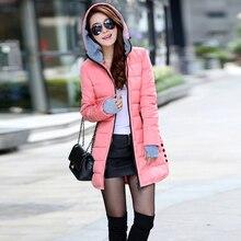 2019 Women winter hooded Super warm Jacket coat plus size cotton padded jacket female long parka womens wadded feminina стоимость