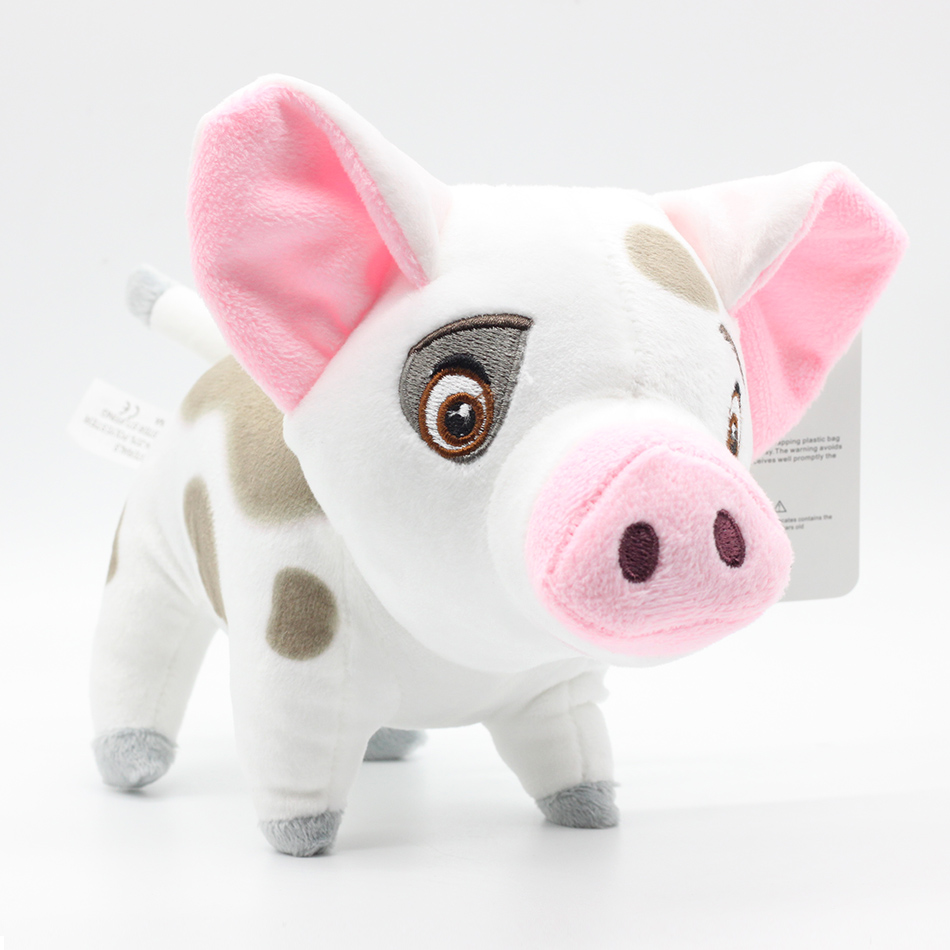 18cm New Arrival Movie Moana Pet Pig Pua Stuffed Animals Cute Cartoon Plush Toy Dolls Children Gift 2018 talking hamster mouse pet plush animals toy hot cute speak talking sound record educational toy for children gift