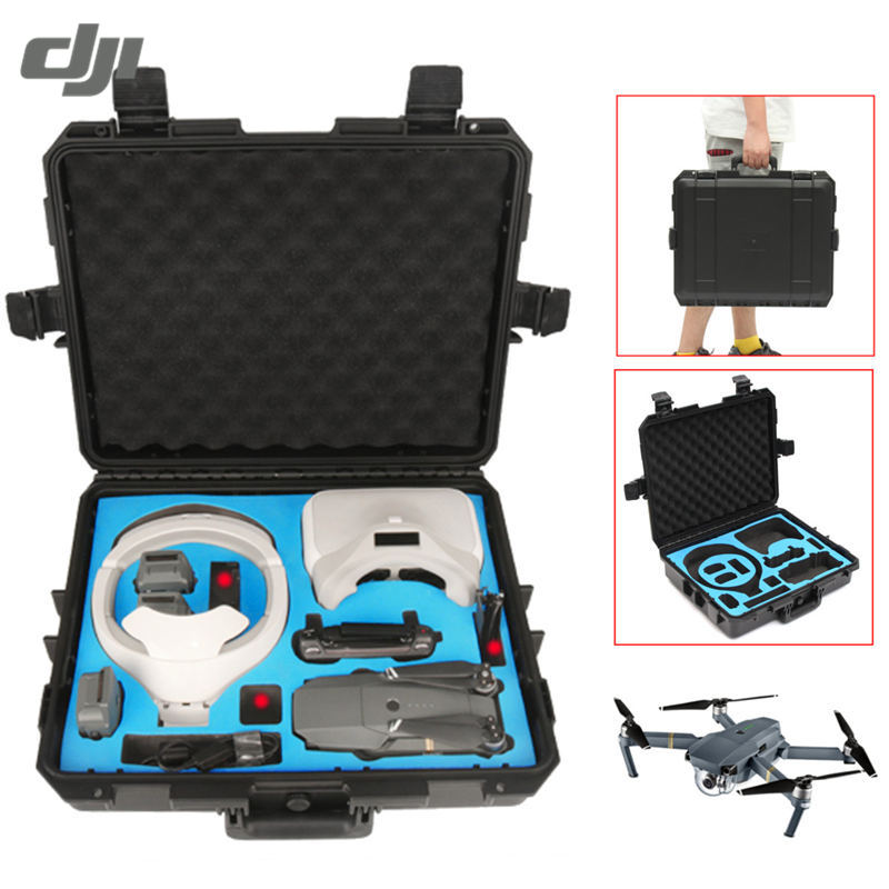 DJI Mavic Pro Drone Combo FPV RC Quadcopter DJI Goggles Waterproof Shoulder Carrying Case Storage Box Suitcase Hand Bag Black accessories for dji goggles bag cochanvie eva storage portable handheld case bag for dji fpv vr glasses goggles black
