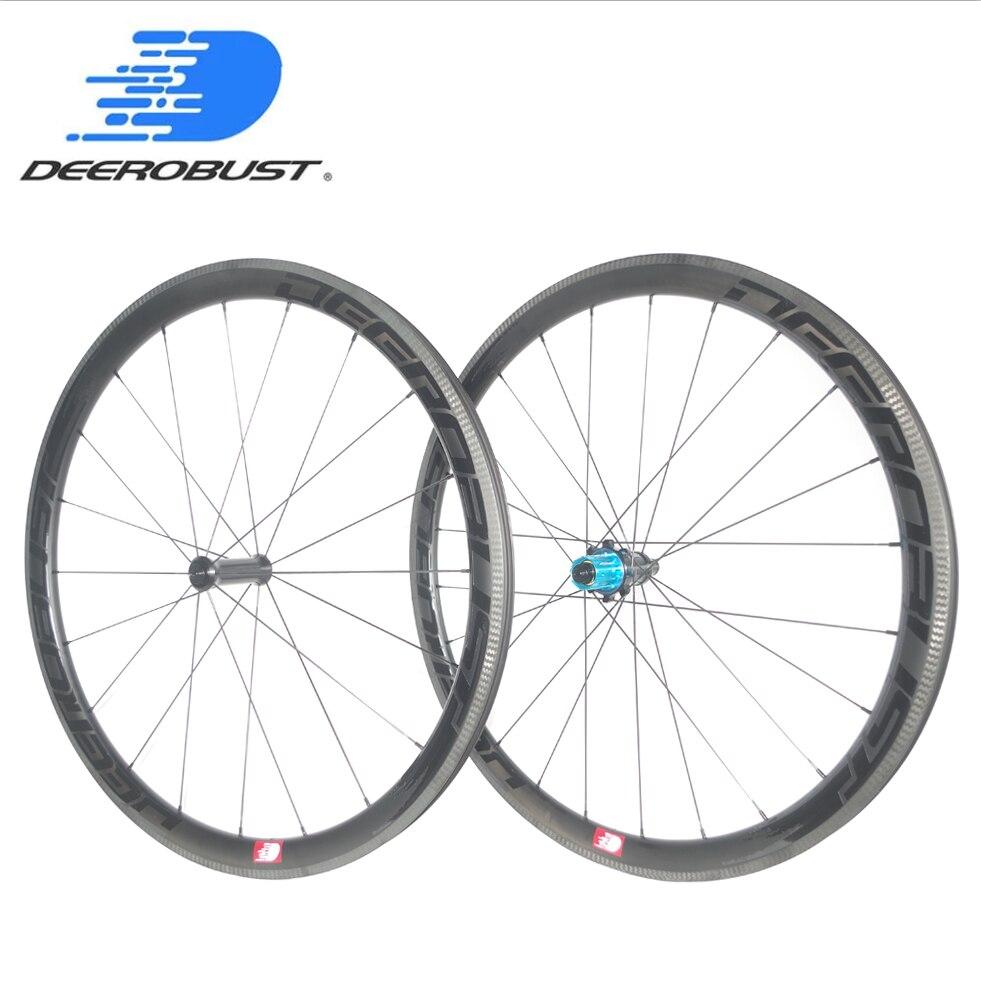 1225g HIGH-END 700c 30mm 38mm 45mm 50mm x 25 milímetros Tubeless Clincher Estrada rodas De bicicleta De Carbono conjunto Roda de Bicicleta Hubs Puxe