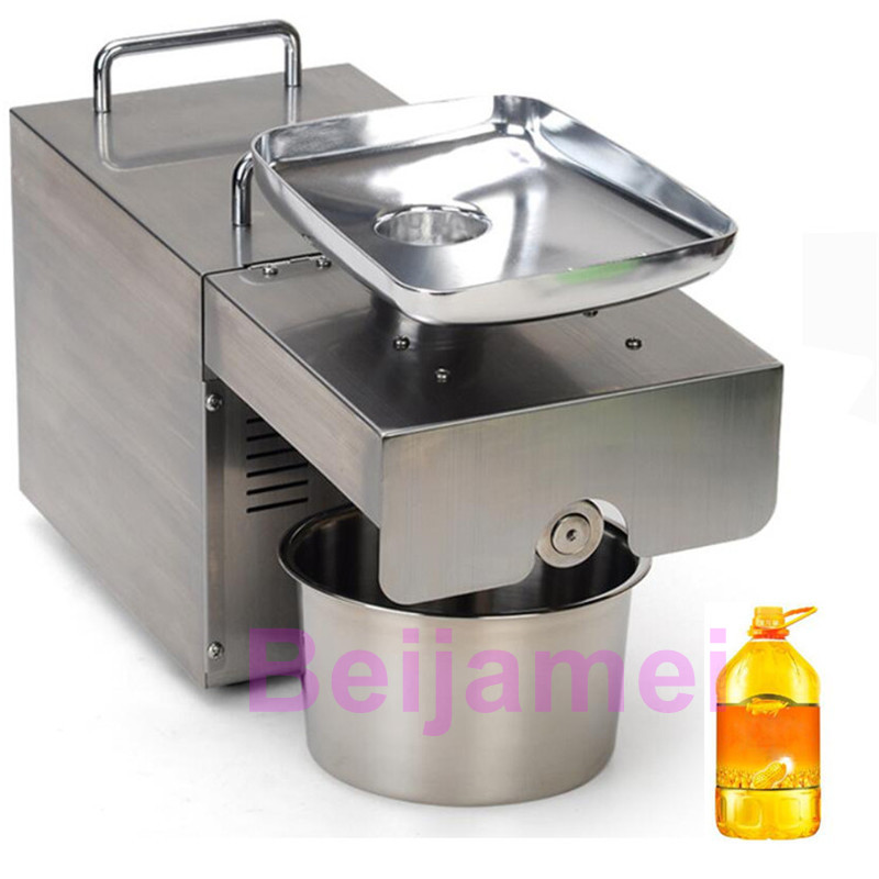 BEIJAMEI automatic cold press oil machine, commercial oil cold press machine, sunflower seeds oil extractor new automatic small home oil press machine cold hot press for peanut coconut sunflower seeds oil extractor oil press machine