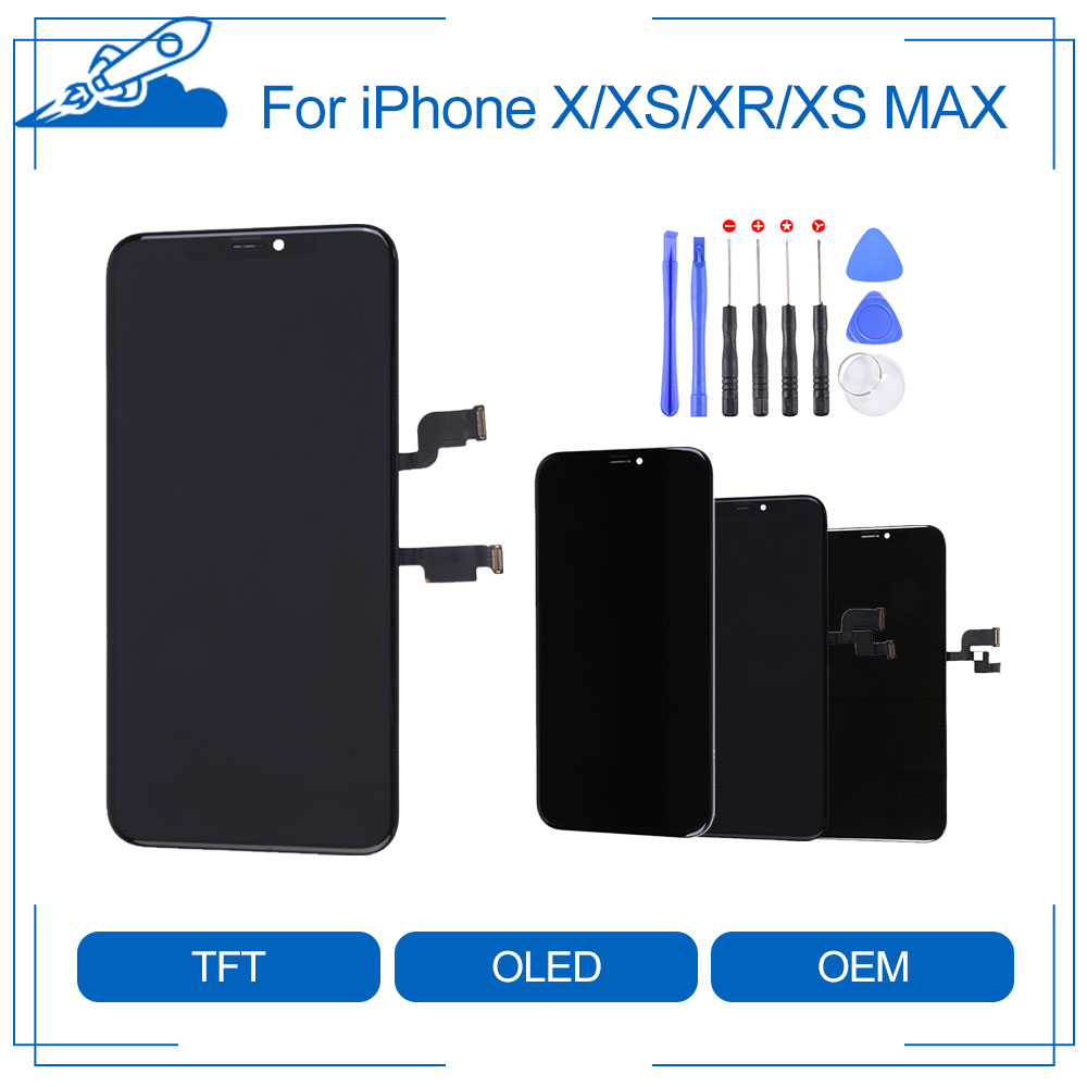 Elekworld Grade A Tianma OLED OEM For iPhone X XS XR XS Max LCD Display Touch