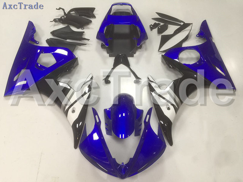 Motorcycle Fairings Kits For Yamaha YZF600 YZF 600 R6 YZF-R6 2003 2004 2005 03 04 05 ABS Injection Fairing Bodywork Kit Blue B40 mfs motor motorcycle part front rear brake discs rotor for yamaha yzf r6 2003 2004 2005 yzfr6 03 04 05 gold