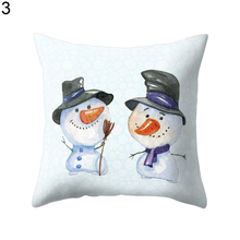 Christmas Tree Snowman Throw Pillow Cover Case Cushion Home