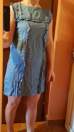 High Waist Sleeveless Mini Soft Jeans Dress Frilled Women Ruffles Casual Summer Sundress Short Denim Beach Dress Cotton photo review