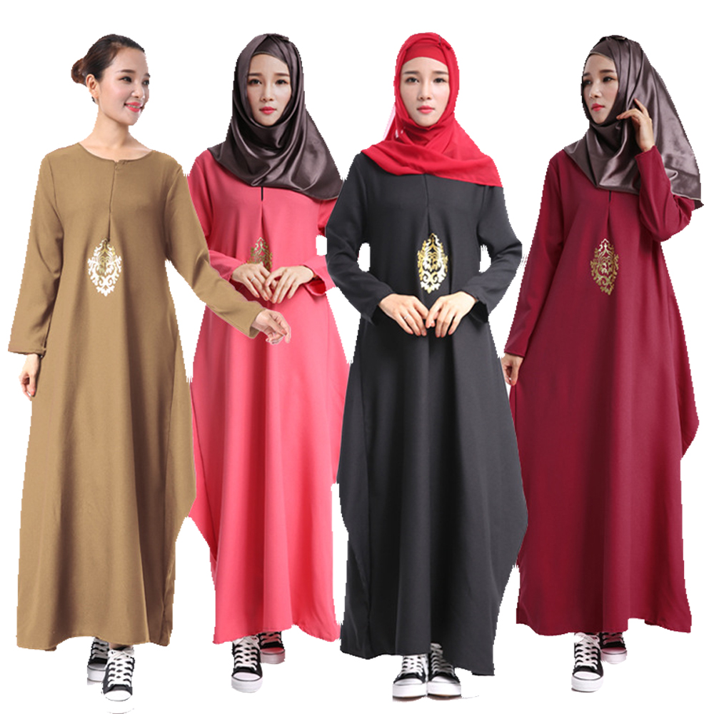New Hui Muslim Female Clothing Accessories Pure Color Of The Dress Ethical Wind Easing Saudi Women Robe Sunday Clothes Hot Sale