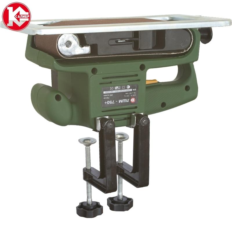 цена Electric tool Belt sanding machine Kalibr LShM-750+