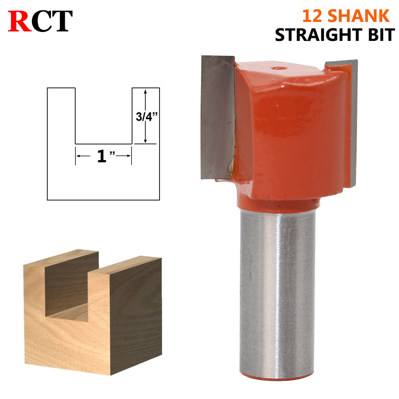 1PCS  12mm Shank Straight/Dado Router Bit Double Flute Straight Bit Carbide Woodworking Straight Router Bit Set 1pc 8mm shank high quality straight dado router bit set diameter wood cutting tool