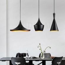 3 unidades/pacote ouro/preto/branco abc pingente luzes (alto/gordo/largo) design de alumínio sombra musical pingente lâmpada batida luz