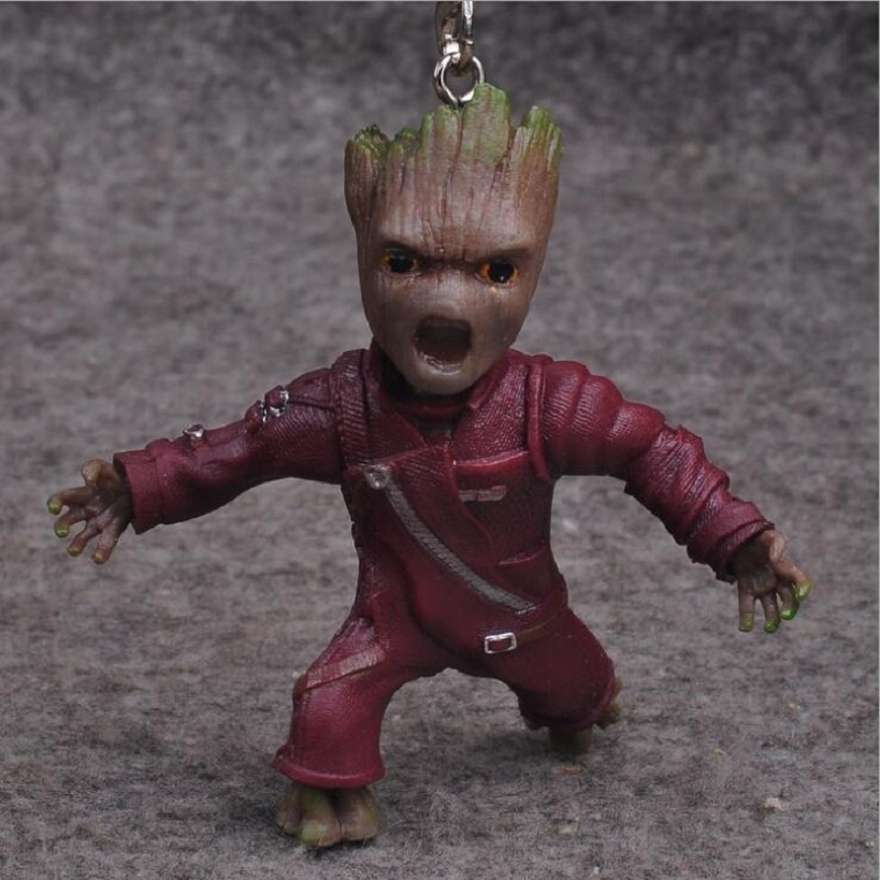 Guardians of the Galaxy 2 Dancing Tree Man Action Figure Keychain Collection Model 2017 New Figurine bobby doll party oyuncak