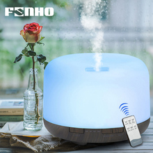 FUNHO 500ml Air Humidifier Remote Control Aroma Oil Diffuser 7 LED Color Night Light Timing Humidification for Home Office 168C 420ml large capacity air humidifier essential oil aroma diffuser remote control led night light for office home desktop