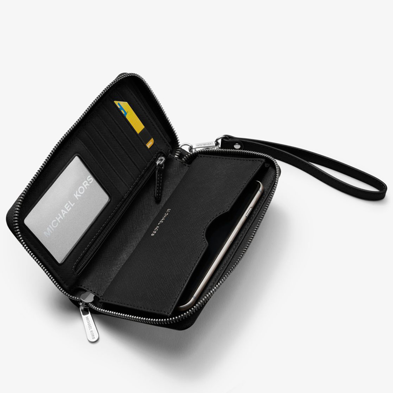 MICHAEL MICHAELKORS MK Women Jet Set Travel Large Smartphone Wallets Cow Leather Carryall 32H4GTVE9L Wallet Wallets