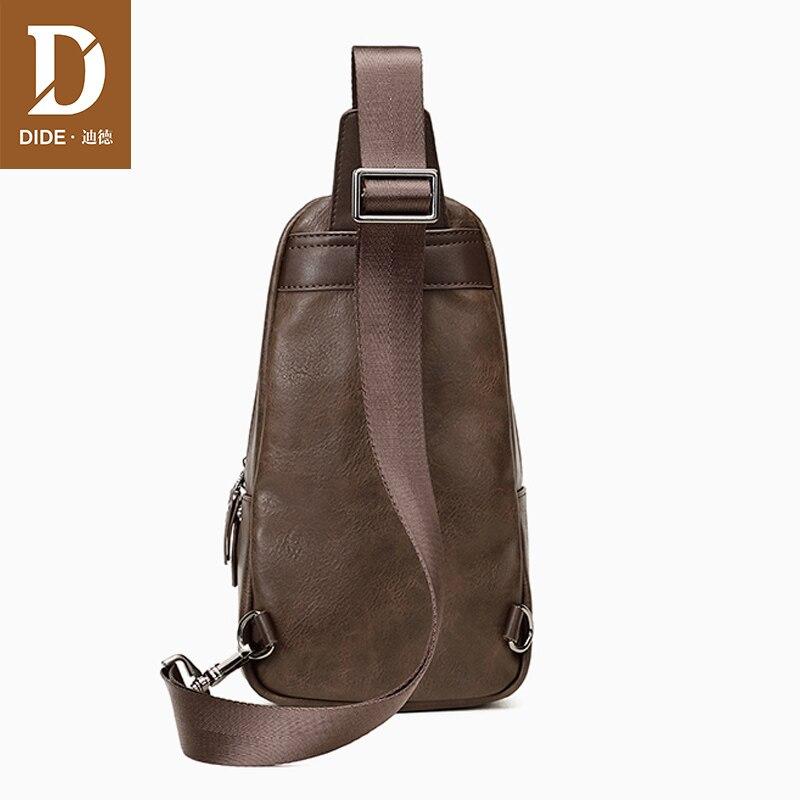 DIDE Fashion Vintage Shoulder Bags men handbags male bag designer PU Leather chest bag Men's cossbody Messenger Bags 707    2