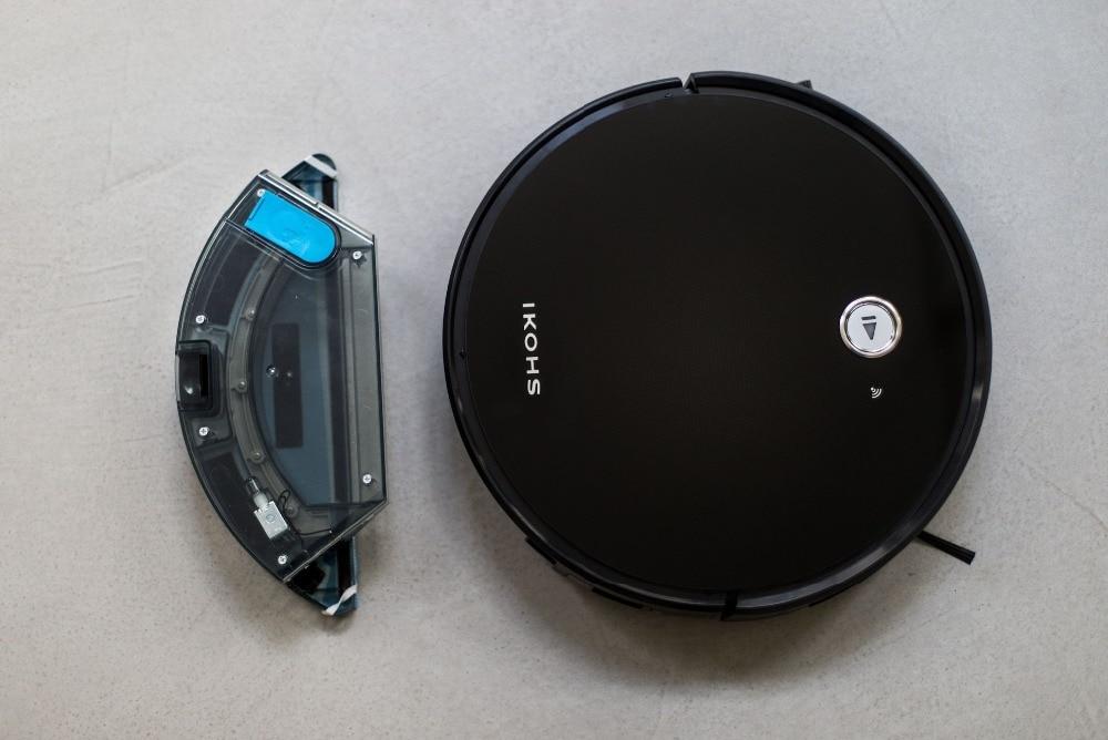 IKOHS NETBOT S15 Robô Inteligente Aspirador Aspirador de pó Preto Professional APP Casa Inteligente Sem Fio - 4