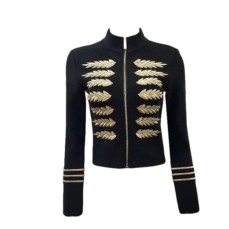 Top Soirée Longues Bandage Mode De À C Manches Veste Avant 09 Qualité Femmes Zipper Noir Rayonne Manteau wOqUBw