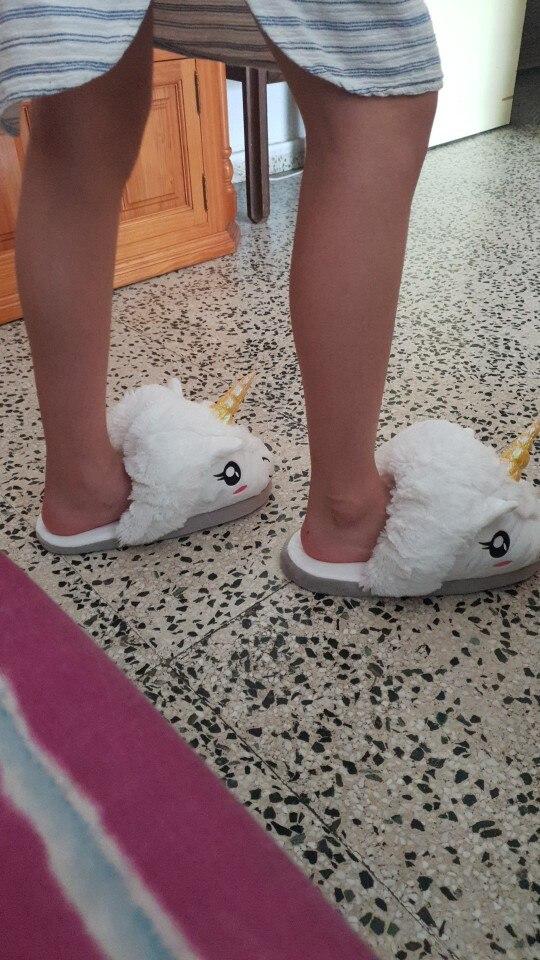 Pantoufles Licorne photo review