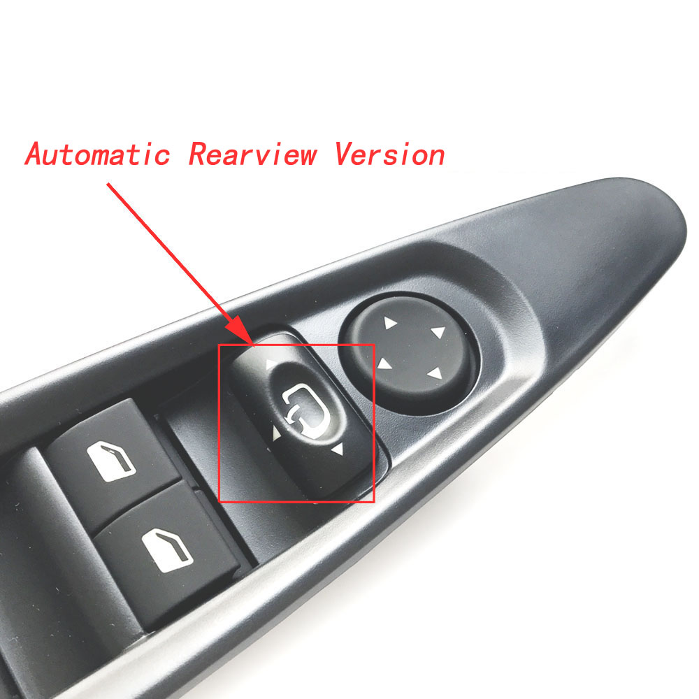 Image 2 - left side window switch power window control switch electric mirror rearview mirror button with panel for citroen c4-in Car Switches & Relays from Automobiles & Motorcycles