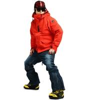 New Premium Edition Southplay Winter Season 10,000mm Waterproof Ski Snowboard Warming (RED Jacket + Blue Jean Pants) Sets