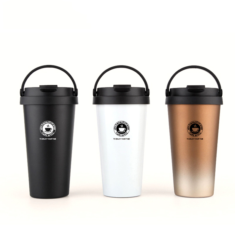 2018 Double Mur Vide En Acier Inoxydable Flacons 500 ml Thermo Tasse Café Thé Lait Voyage Tasse Thermol Bouteille Thermocup thermos