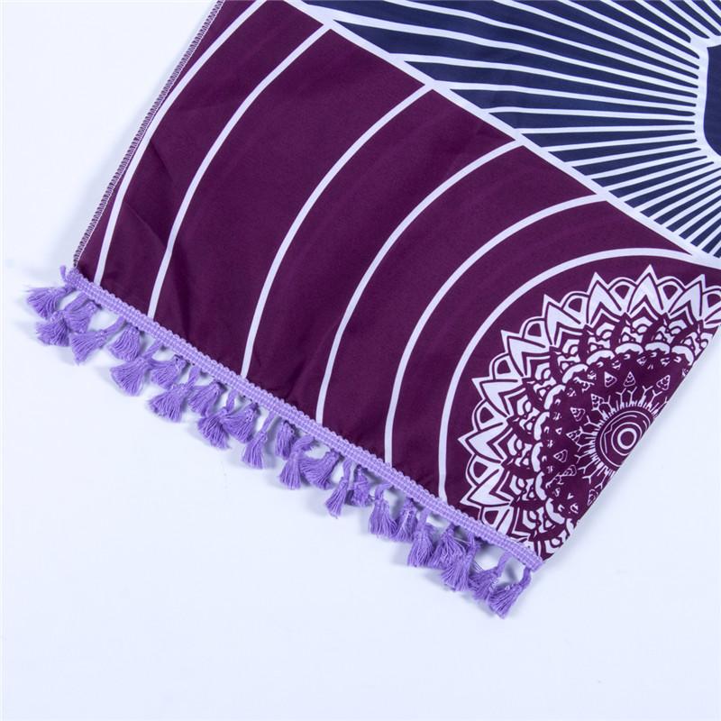 Dropship! Single Rainbow Chakra Tapestry Towel Carpet Mandala Boho Stripes Travel Yoga Mat Outdoor Mats 150x70cm/100x45cm 3