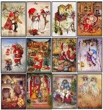 자수 카운트 크로스 스티치 키트 바느질 공예품 14 캐럿 dmc 컬러 diy 아트 수제 장식 어린 시절의 날 2