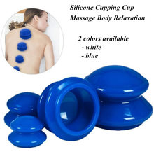 4Pcs Moisture Absorber Anti Cellulite Vacuum Cupping Cup Silicone Family Facial Body Massage Therapy Cupping Cup Set 4 Size недорого