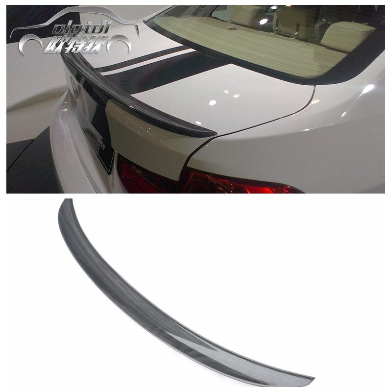 F30 Performance style carbon fiber rear spoiler car trunk lip auto boot wing spoiler for BMW F30 car styling car accessories paint abs car rear wing trunk lip spoiler for 16 17 honda civic 2016 2017 fastby ems rs style 8colors