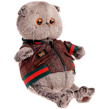 Мягкая игрушка Budi Basa Кот Басик в кожаной куртке, 19 см