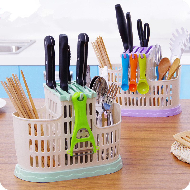 1pc Creative Kitchen Chopsticks Cage Chopsticks Baskets Household Utensils Drape Chopsticks Tube Knife Holder