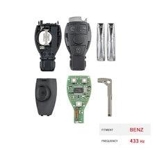 Dzanken3 Tasten Fernbedienung Auto Schlüssel 433Mhz für Mercedes Benz Jahr 2000 + & Transponder Chip & Uncut Klinge