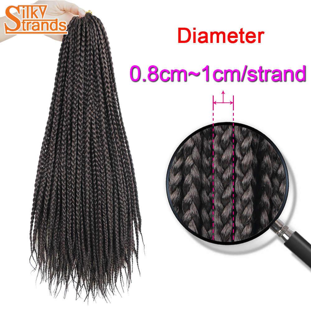 Шелковистые пряди косички накладные волосы Омбре черные коричневые цвета синтетические плетеные волосы вязанные косички оптом