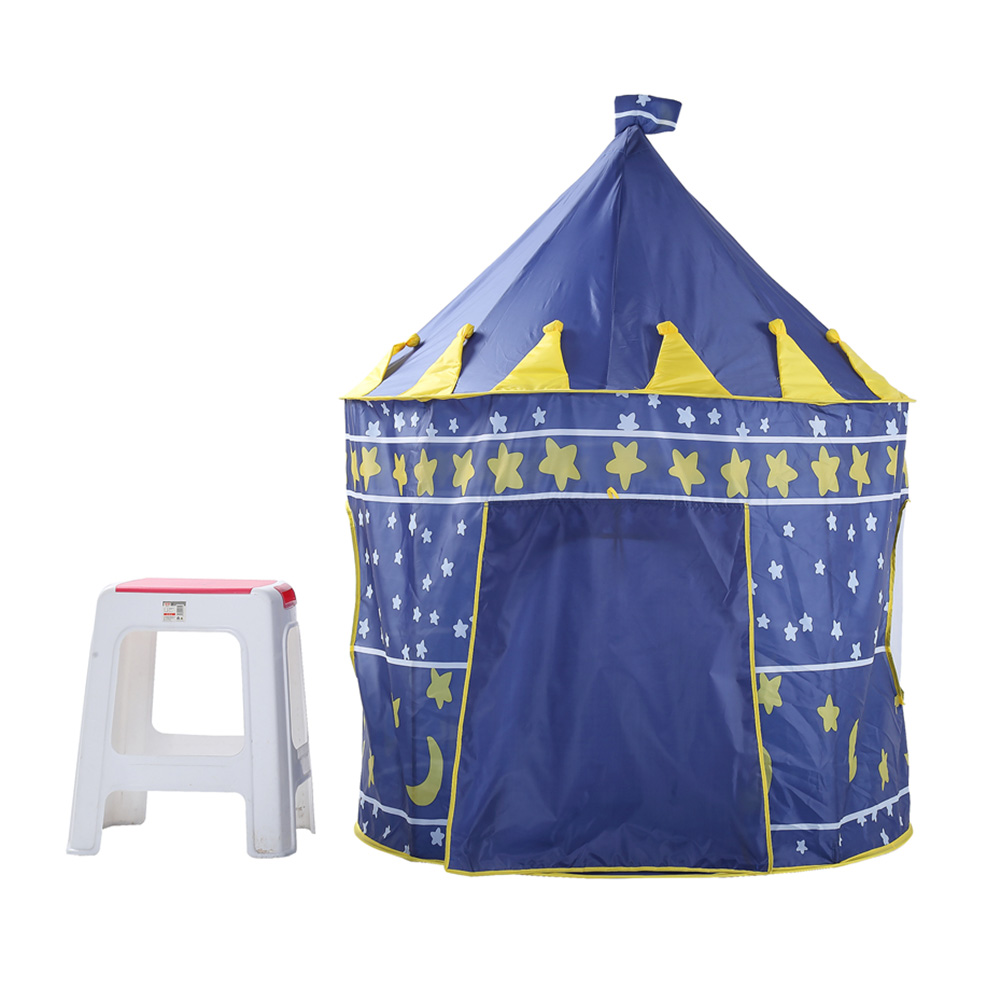 2017 Play Tent Portable Foldable Tipi Prince Folding Tent Children Boy Castle Cubby Play House Kids Gifts Outdoor Toy Tents