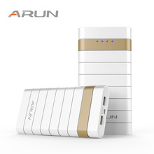 ARUN 20000mah Power Bank External Battery PoverBank 2 USB Powerbank Portable Mobile phone Charger for Xiaomi Samsung iphone XS
