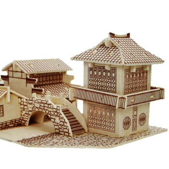 Educational DIY toy 3D wooden assembly model