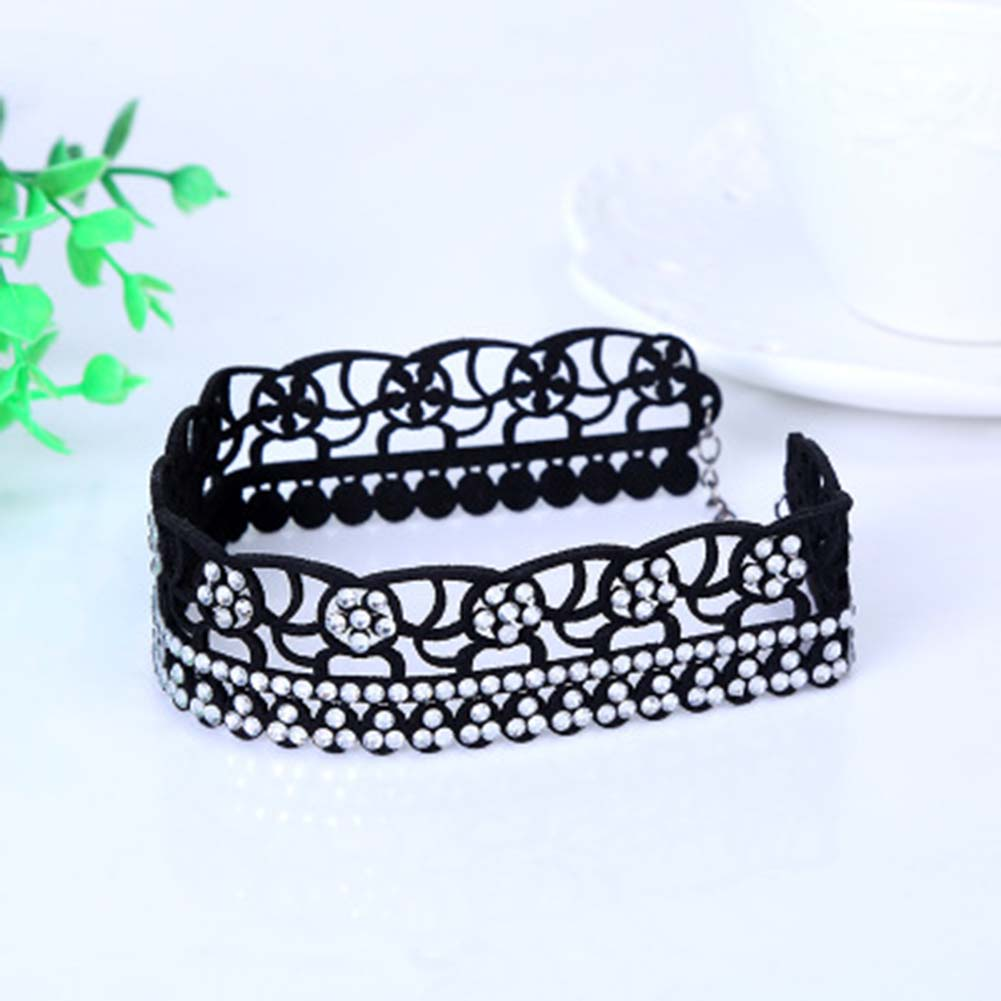 Fashion New Women Multi layer Crystal Flower Rhinestone Collar font b Necklace b font Choker font