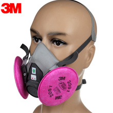 3M KN95 Dust Mask Respirator Headset 6200+2091 Anti-particulate Filters Anti-Dust Mask Anti-fog And Haze PM2.5 Protective Masks 1pc pm2 5 masks air pollution non woven anti fog filter daily use vertical folding safe masks antivirus dust anti fog haze