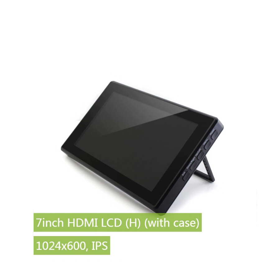 ShenzhenMaker Store 7 inch HDMI LCD H Capacitive Touch Screen with Toughened Glass Cover 1024x600 IPS