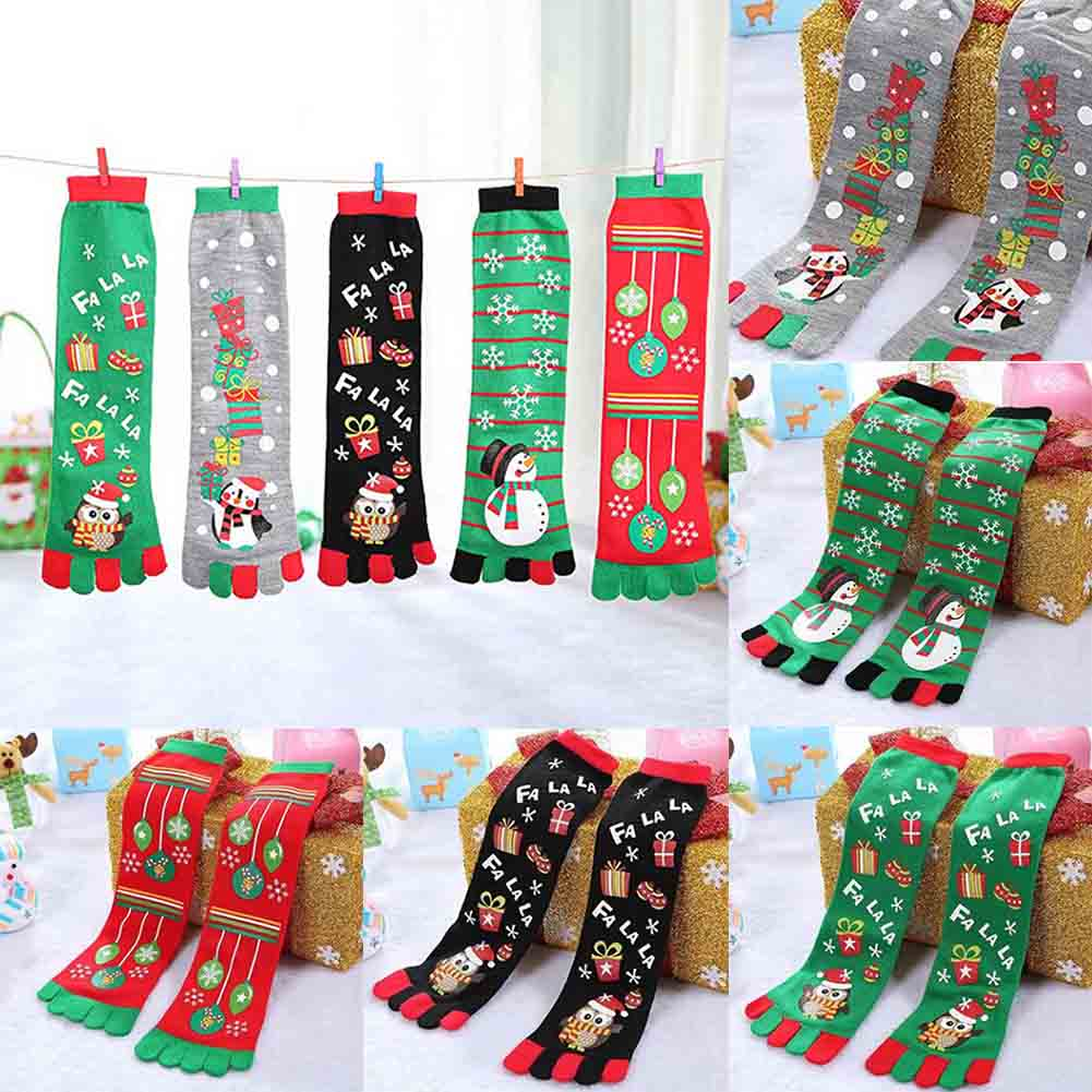Winte Chirstmas Toe Socks Unisex Cute Ca