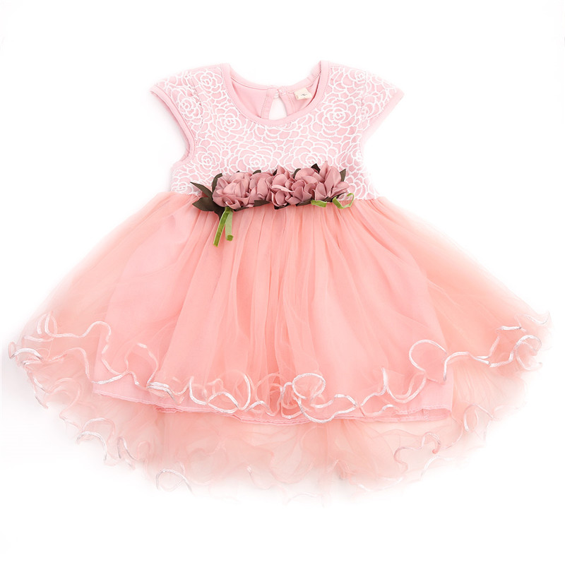 Toddler Infant Kids Baby Girls Floral Dress Princess Party Summer Casual Dresses