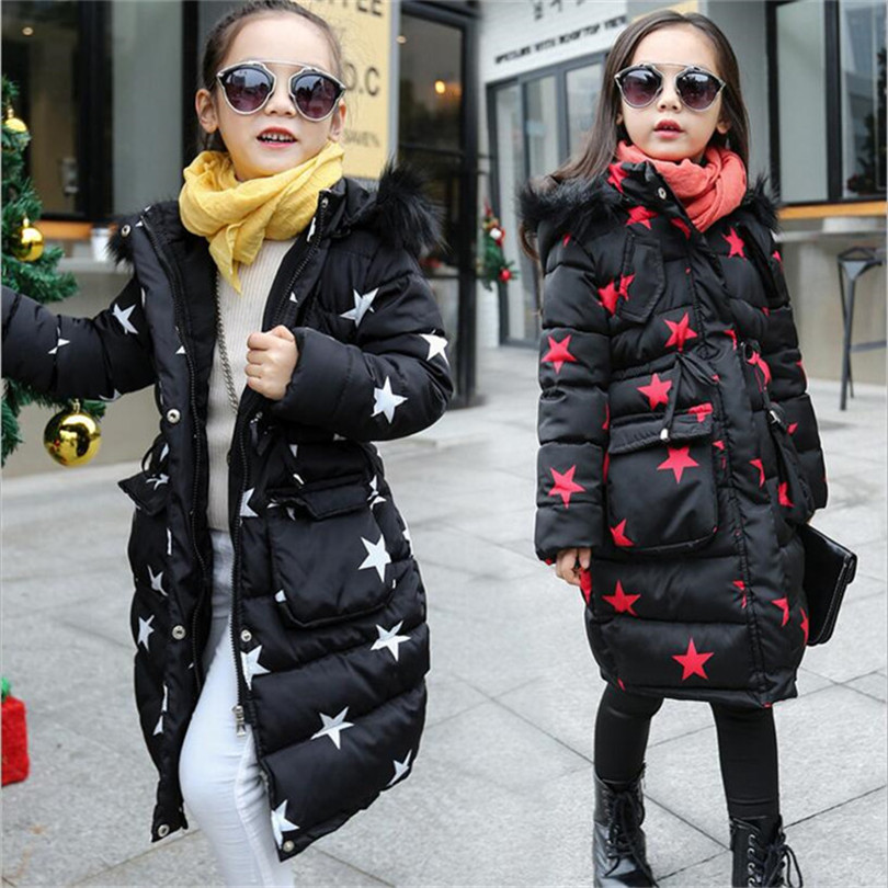 2017 Child Winter Casual Jacket Teenage Girl Child Warm Cap Hooded Long Tunic Jacket Teenager Winter Warm Girl Coat 5-14 Year 7 a15 girls jackets winter 2017 long warm duck down jacket for girl children outerwear jacket coats big girl clothes 10 12 14 year